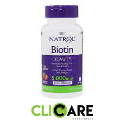 Biotina Natrol 5,000 Mcg...